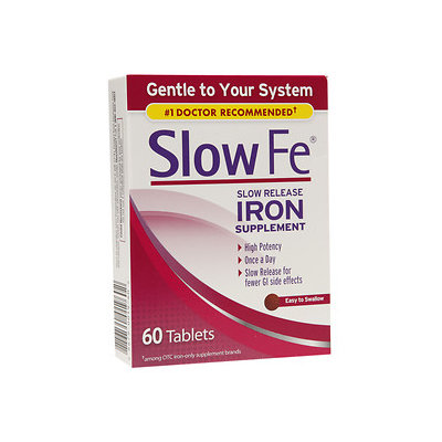 Slow Fe Slow Release Iron, Tablets, 60 ea