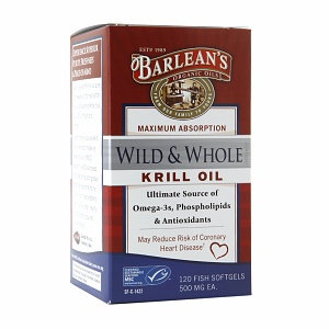 Barleans Barlean's Organic Oils Wild & Whole Krill Oil 500mg, Softgels