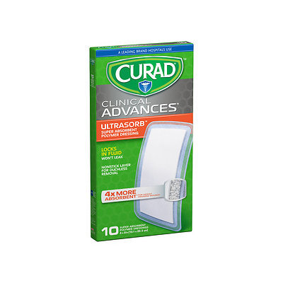 Curad Clinical Advances Ultrasorb, 4 in x 8 in, 10 ea