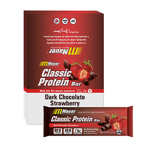 Mauer Classic Protein Bar, Dark Chocolate Strawberry, 12 pk, 2.6 oz