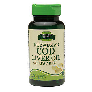 Nature's Truth Norwegian Cod Liver Oil with EPA/DHA, 100 ea