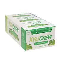 Xylichew Soft Chewing Gum Sweetened with Birch Xylitol Blister Packs, Spearmint, 12 pk, 144 ea