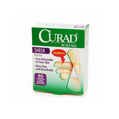 Curad Sheer Adhesive Bandages, Assorted, 80 ea
