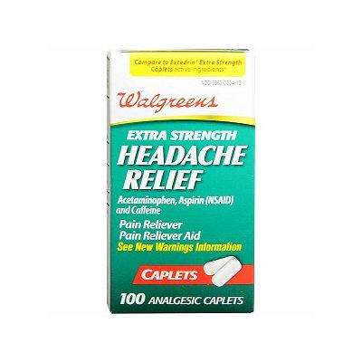 Walgreens Extra Strength Headache Relief Analgesic Caplets