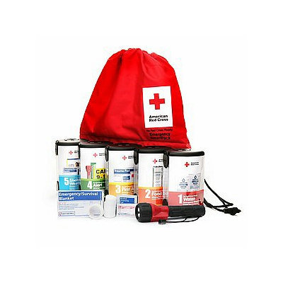 First Aid Only American Red Cross Emergency Smartpack, Red