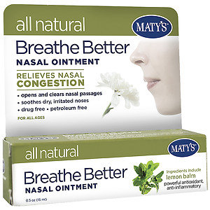 Maty's All Natural Breathe Better Nasal Ointment, .5 oz