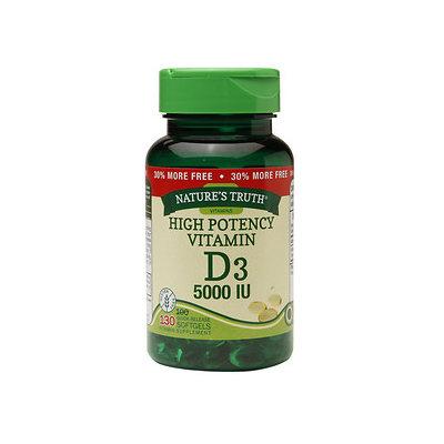 Nature's Truth High Potency Vitamin D3 5000 IU, 130 ea