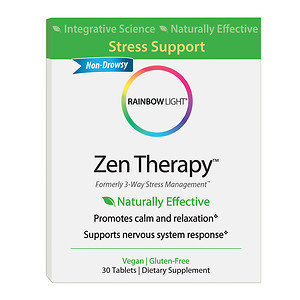 Rainbow Light - Zen Therapy - 30 Tablets Formerly 3 Way Stress Management