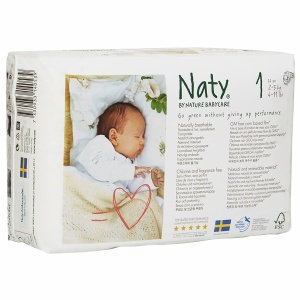 Naty by Nature babycare Eco-Diapers Size 1