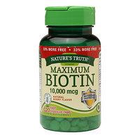 Nature's Truth Maximum Biotin 10,000mcg, Fast Dissolve Tabs, Berry, 120 ea