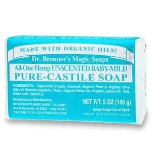 Dr. Bronner's All-One Hemp Pure-Castile Soap Bar Baby-Mild