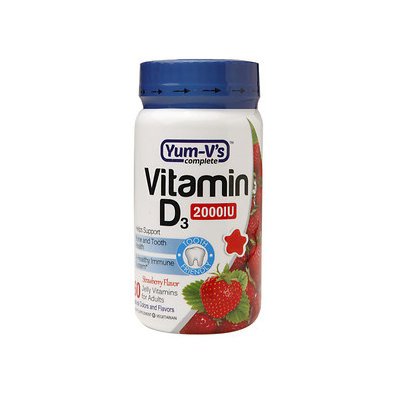 Yum V's Yum-V's Vitamin D3 2000IU Adult Jellies, Strawberry, 60 ea