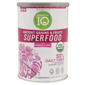 Designer Whey Essential 10 Ancient Grains & Fruits Superfood, 12 oz