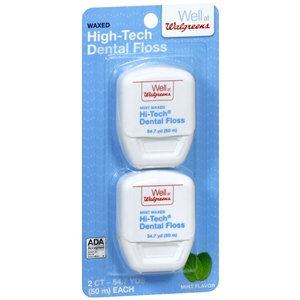 Walgreens Hi-Tech Dental Floss, 20, 54.7 Yards