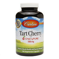 Carlson Labs - Tart Cherry with CherryPURE 500 mg. - 180 Vegetarian Capsules