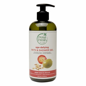Petal Fresh Pure Bath & Shower Gel, Grape Seed & Olive Oil, 16 fl oz
