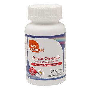 Zahler - Junior Omega 3 1000 mg. - 60 Chewable Softgels