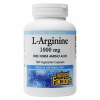 L-Arginine 500 mg, 180 Vegetarian Capsules, Natural Factors