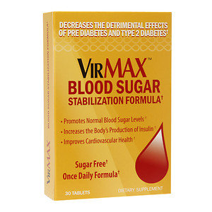 VirMAX Blood Sugar Stabilization Formula, Tablets, 30 ea