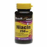 Mason Natural, Niacin 250 mg, Extended Release, 60 Capsules