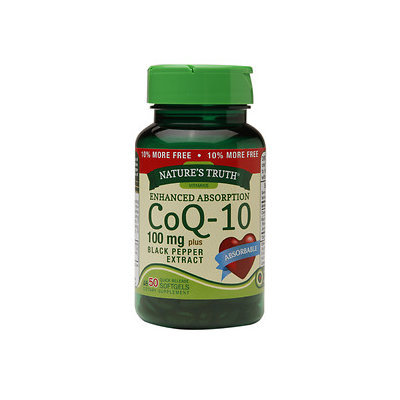 Nature's Truth CoQ-10 100mg Plus Black Pepper Extract, 50 ea