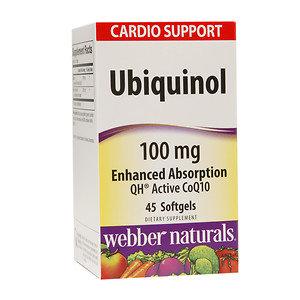 Webber Naturals Ubiquinol 100mg Enhanced Absorption, 45 ea