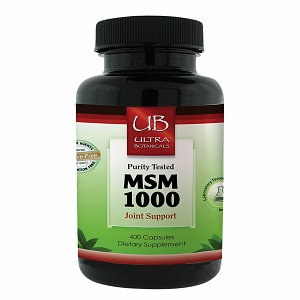 Ultra Botanicals - MSM Joint Support 1000 mg. - 400 Capsules