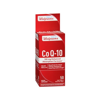 Walgreens Co Q-10 100mg Enhanced Absorption Formula, Softgels