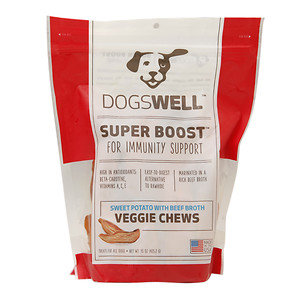 Phillips Feed & Pet Supply Dogswell Super Boost Veggie Sweet Potato Beef Broth Chews 15oz