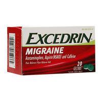 Excedrin Migraine Pain Reliever Geltabs, 20 ea
