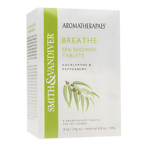Aromatherapaes Shower Tablets, 6 pk, Breath, 1 ea