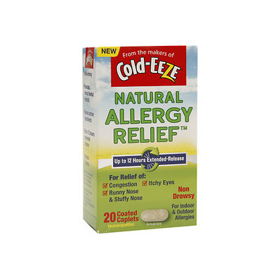 Cold-Eeze Natural Allergy Extended Relief Coated Caplets, Non Drowsy, 20 ea