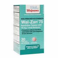 Walgreens Wal-Zan 75 Acid Reducer Tablets, 30 ea