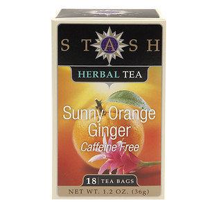 Stash Tea TEA, HRB, SUNNY ORANGE GNGR, (Pack of 6)