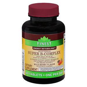 Finest Nutrition Super B-Complex Quick Dissolve, Berry, 60 ea