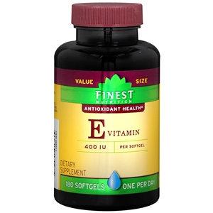 Finest Nutrition Vitamin E 400 IU, Softgels
