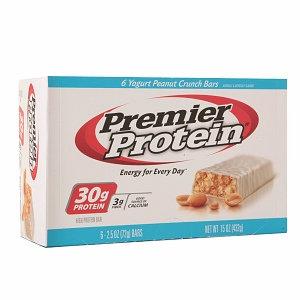 Premier Nutrition 620062 Protein Bar Yogurt Peanut Crunch 6 Bars