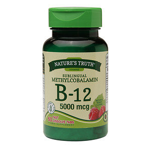 Nature's Truth Sublingual Methylcobalamin B-12 5000mcg, Berry, 60 ea