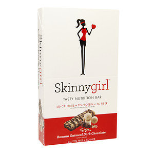 Skinnygirl Tasty Nutrition Bar, 12 pk, Banana Oatmeal Dark Choolate, 1.4 oz