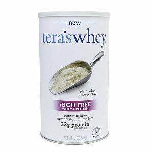 Teras Whey tera's whey rBGH FREE Whey Protein 22g, Plain Unsweetened, 12 oz