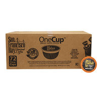 San Francisco Bay Gourmet Coffee OneCup Single Serve Coffees, French Roast, 72 ea