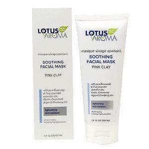 Lotus Aroma Soothing Facial Mask, Pink Clay, 3.4 oz