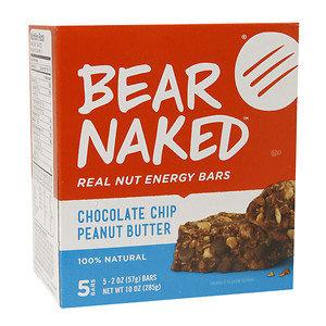 Bear Naked Real Nut Energy Bar, Chocolate Chip Peanut Butter, 5 ea
