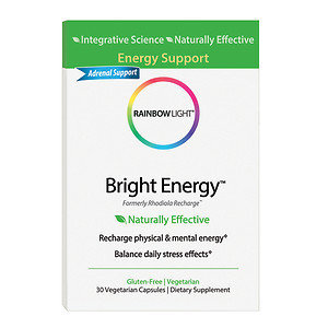 Rainbow Light - Bright Energy - 30 Vegetarian Capsules Formerly Rhodiola Recharge