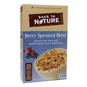 Back To Nature Granola Cereal Berry Sprouted Blend 10 oz