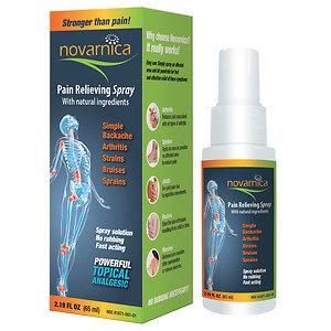 NOVARNICA Pain Relieving Spray, 2.19 oz
