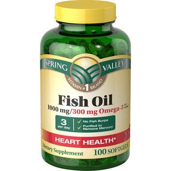 Spring Valley Regular Strength 1000mg Fish Oil Softgels