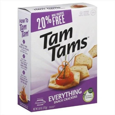Manischewitz Tam Tam Crackers, Everything, 9. 6 Oz, Pack Of 12