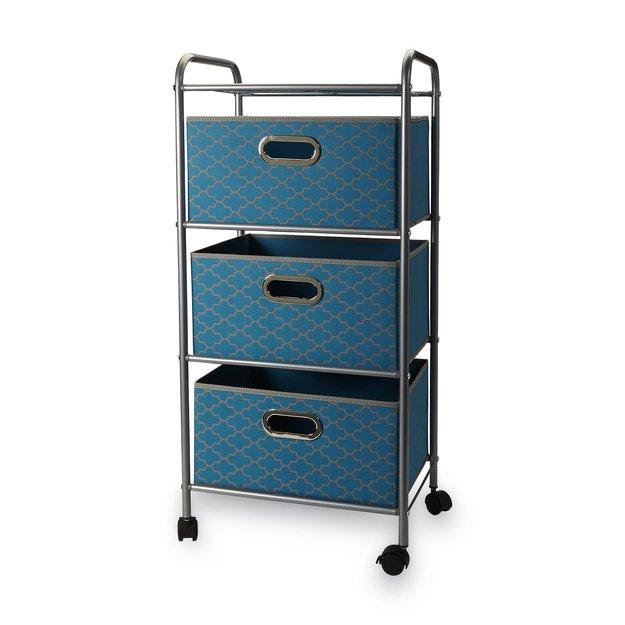 Bintopia 3 Bin Storage Cart Frette Print - PLANET 3