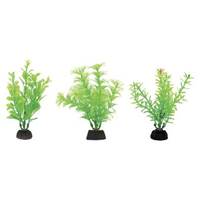Aqua-Plants Aqua-Plant 4-Inch Green Plants 6-Piece Assortment from Penn-Plax